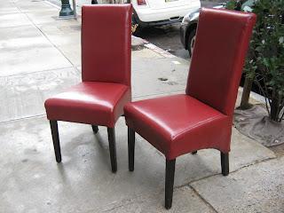 Admirable Uhuru Furniture Collectibles Two Red Leather Parsons Creativecarmelina Interior Chair Design Creativecarmelinacom