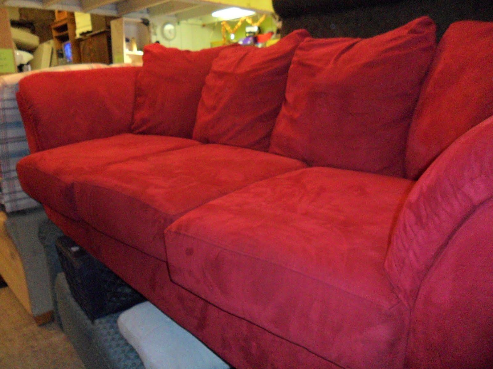 Red Microfiber Sofa Sofa Trendz B Red Microfiber And