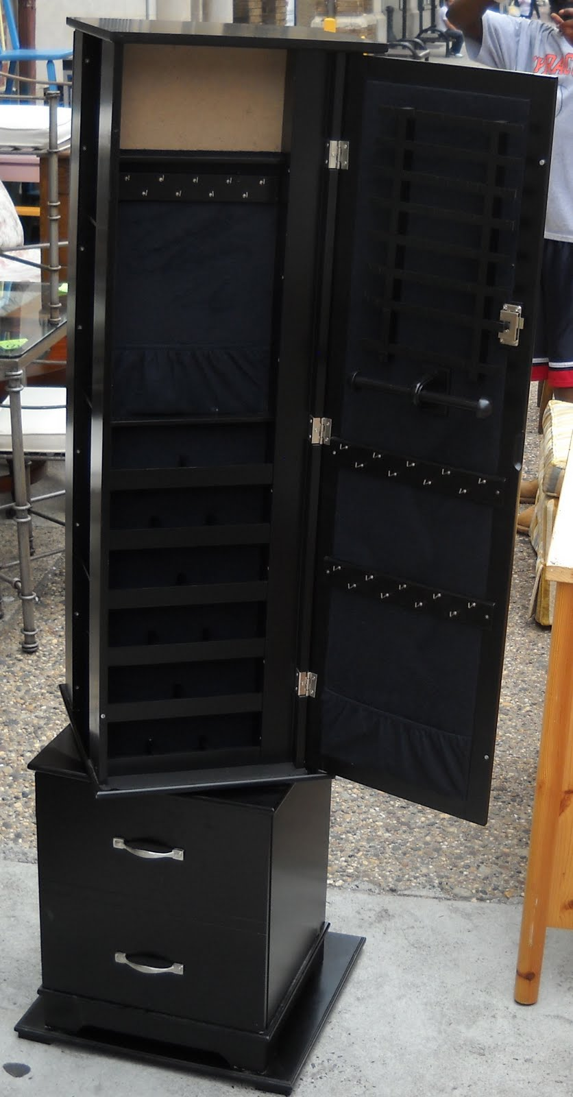 Uhuru Furniture & Collectibles: Black Jewelry Armoire SOLD