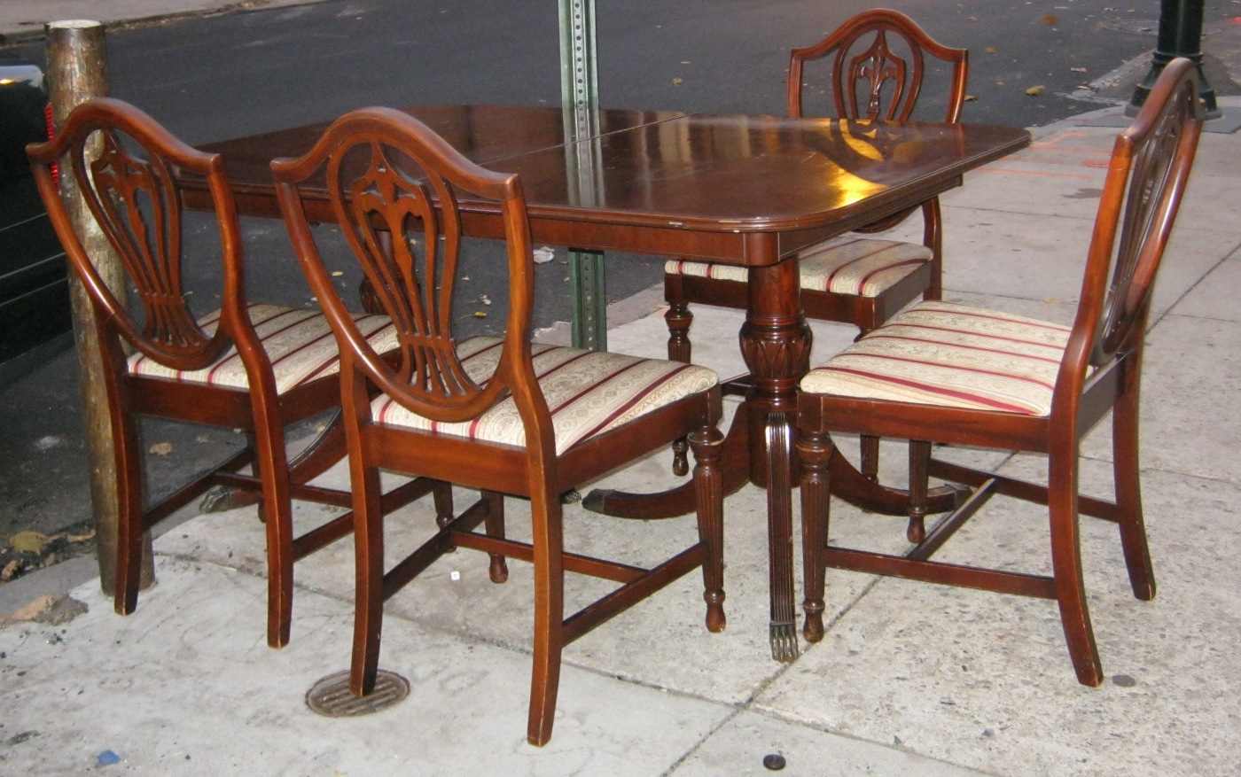 1940s Solid Mahogany Dining Chairs Chair Pads Amp Cushions