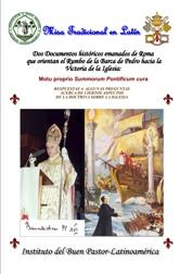 Ayude a divulgar el Motu Prorprio del Papa.