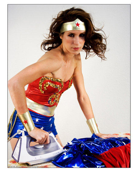 Wonder Woman Ironing