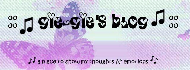 :: ♪ GiE-GiE's Blog ♫ ::
