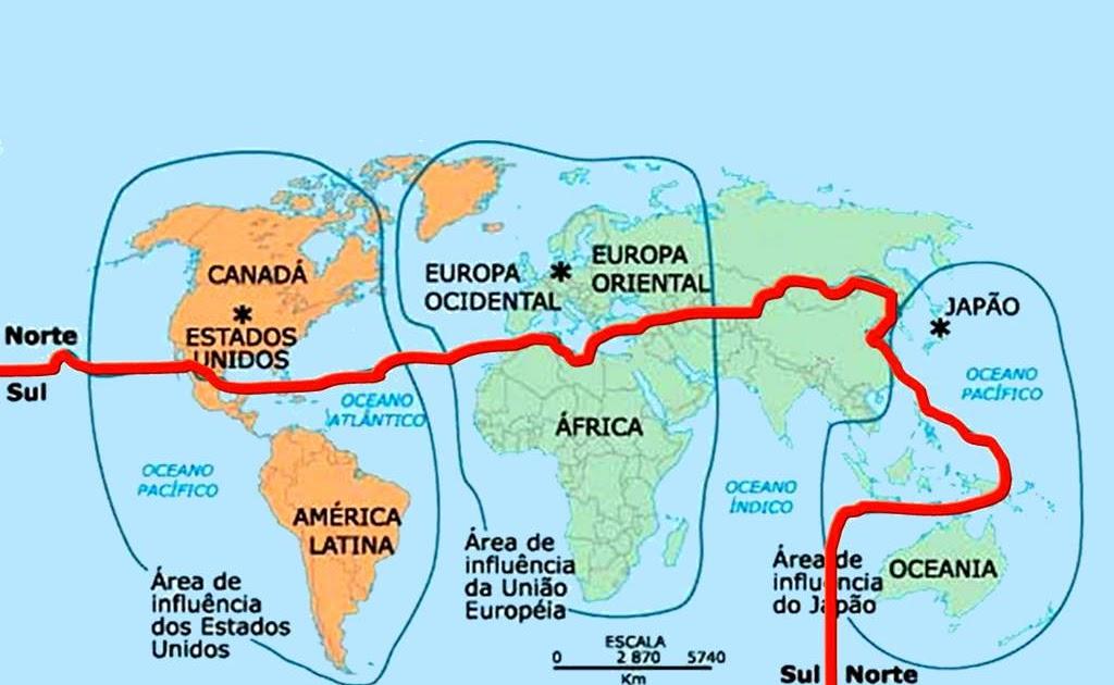 Resultado de imagem para planisferio divisao norte sul