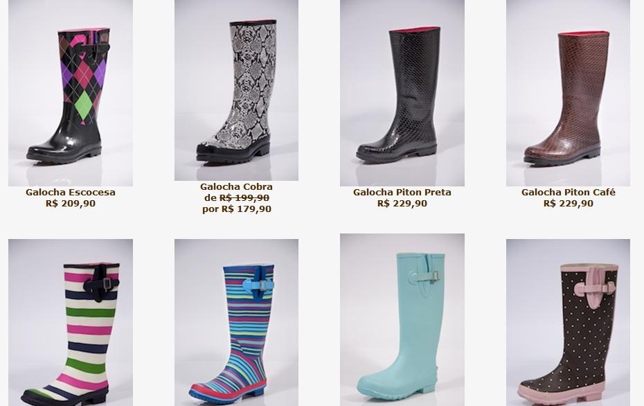 ce30c0b5725 Barato Fashion  Galochas para este tempo de chuva!