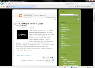 Internet Explorer ile MaFiAMaX Blog!
