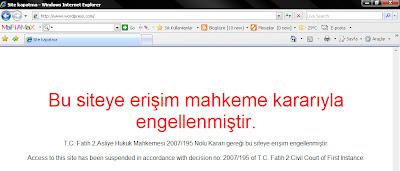 Wordpress.com'a erişim yasağı getiirldi.