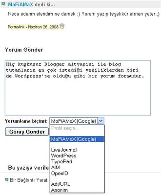 Blogger Yorum Formu