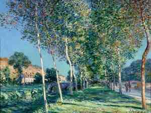 Alfred Sisley - Allee de peupliers de Moret