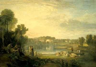 JMW Turner - Pope's Villa At Twickenham (1808)
