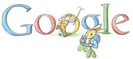 Dennis Hwang - Google (UK) Doodle to mark Beatrix Potter's birthday (2008)