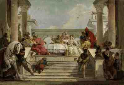 Giovanni Battista Tiepolo - The Banquet of Cleopatra (1740s)