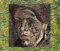 Vincent van Gogh - Portrait Under Patch of Grass (1887)