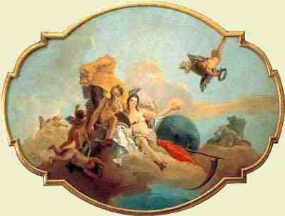 Giovanni Battista Tiepolo - Time Unveiling Truth (ca 1743)