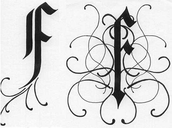 Calligraphy Fonts Alphabet Gothicbutterfly Skull Tattoo Tumblrweird Tattoos In Private Places