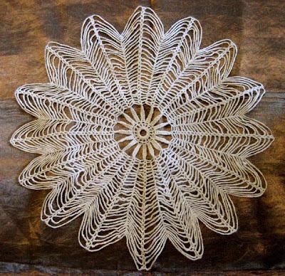 Crocheted Name Pattern Framed Art