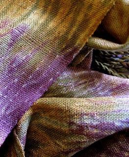 Silk woven shibori