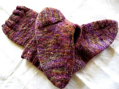 Handspun, handknit wool socks