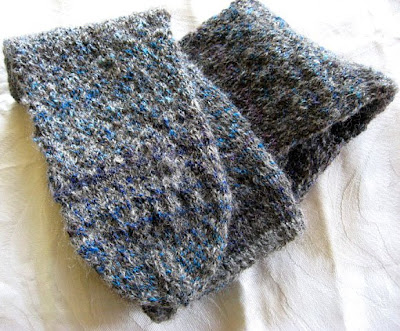 Handdyed silk and natural alpaca handknit socks