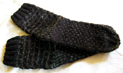 Handdyed, handspun wool socks