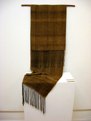 Silk Into Gold handwoven scarf