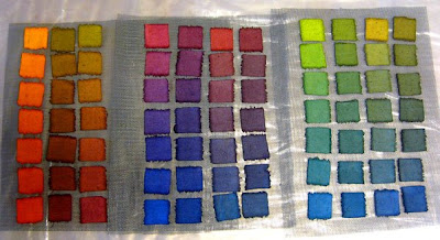 Acid dyes on raw silk fabric