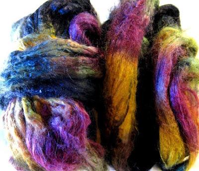Dyed tussah silk