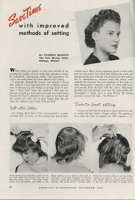 1940 S Fashion Hairstyling Tips The One Pin Curl