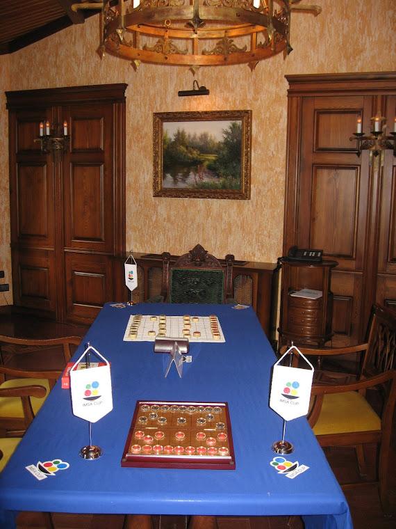 Для матча по китайским шахматам подготовлен специальный зал