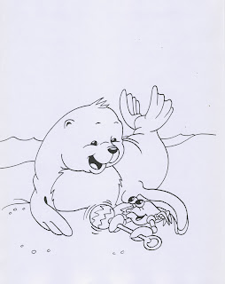 baby seal coloring sheets baby seal coloring pages