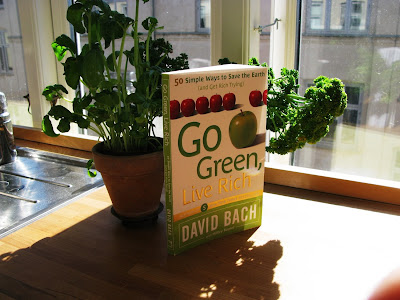 Go Green, Get Rich by David Bach - as seen in my kitchen