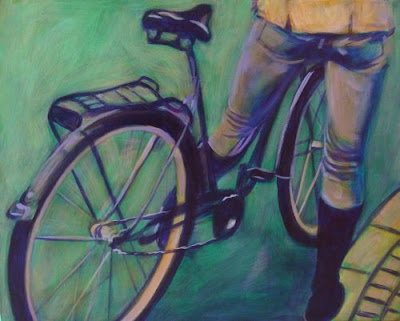 Well-Heeled, painting by Janet Karam