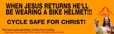 Jesus Christ Wears a Bike Helmet!