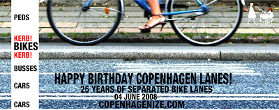Happy Birthday Copenhagen Bike Lanes! 25 years of cycling safety
