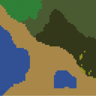 Normal rendering of a tile map