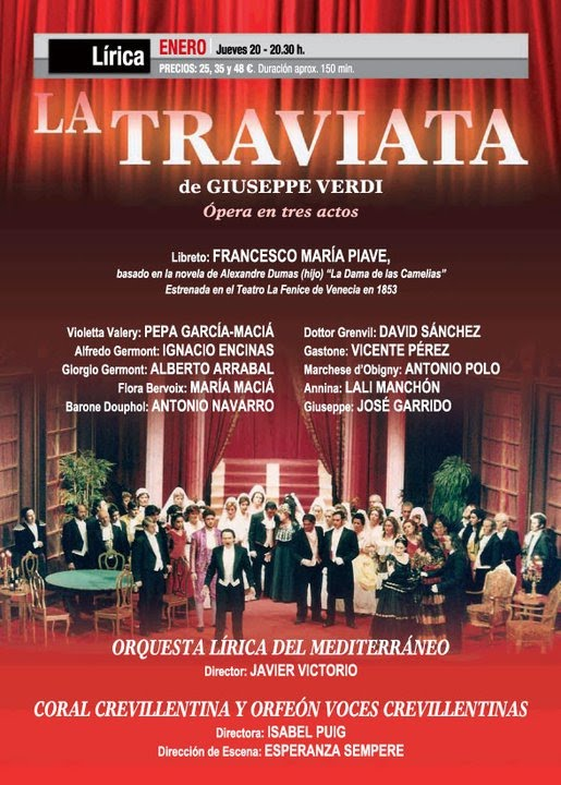 La traviata by Verdi    one of my favorites My fave soprano - talent show flyer