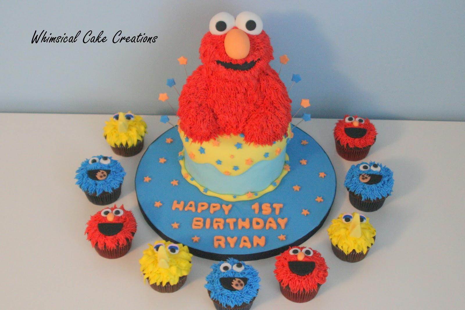 Whimsicalcreations Ca Sesame Street Cake With Elmo Big
