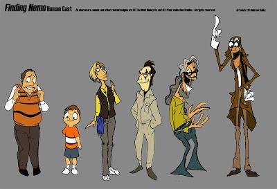 personajes de buscando a nemo