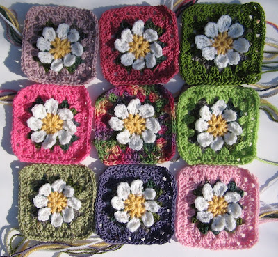 daisy granny square crochet pattern pdf