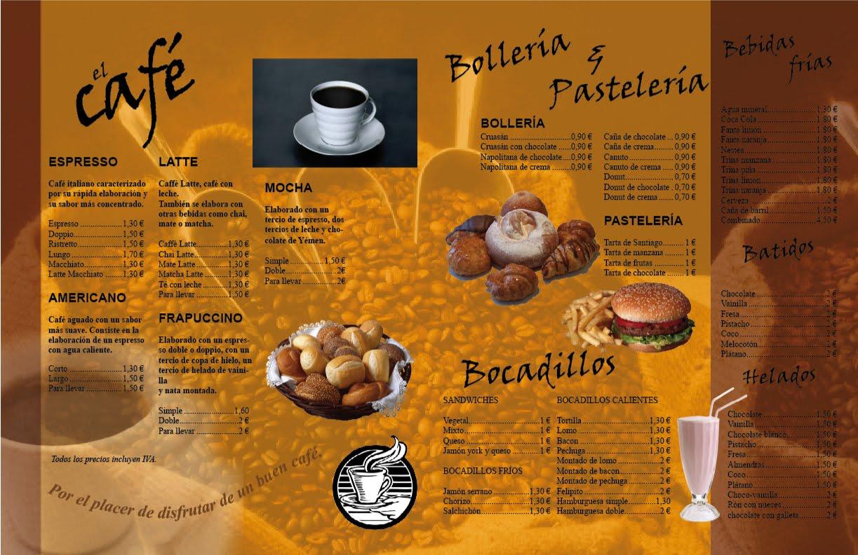 Curso de Diseo Grfico Men de cafetera