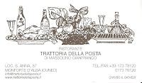 Business card of Trattoria della Posta in Monforte D'Alba.