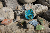 Pottery Shards at Acrocorinth