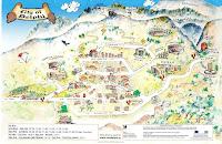 Delphi Tourist Map showing wear to pick up E4 trail.