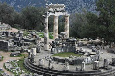 Tholos at Delphi, Greece.