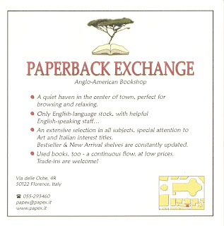 Paperback Exchange Business Card - Florence
