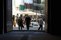 Santo Spirito Looking Outside Main Door to Piazza