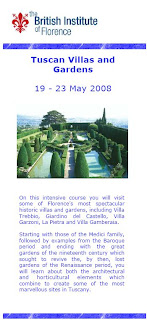 Brochure for Tuscan Gardens and Villa Course