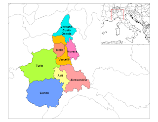 Provinces in Piedmont