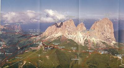 Panorama Map of Sassolungo Group