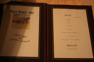 Runch Hof Menu